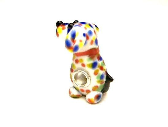 1 Colorful Pup European Glass Lampwork  Large by XzibitASupply, $4.25
