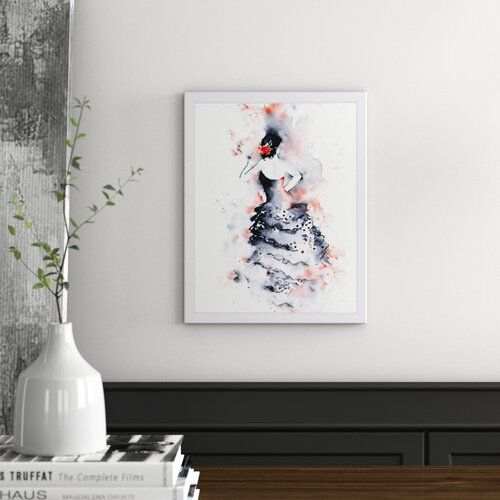 Flamenco 1 Print East Urban Home Size 38 Cm H X 30 Cm W Format Black Framed Flamenco Poster Home