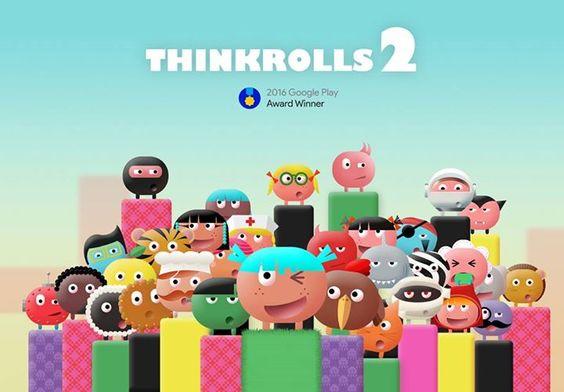 Thinkrolls 2 er en rigtig god app med puslespil og labyrinter. Lærer dit barn at tænke kreativt og anderledes og samtidig løse opgaver.