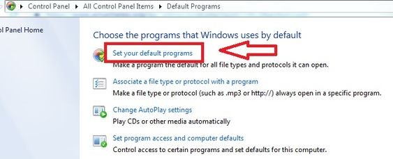 Fix Can't Access My AOl Mail Account- click on 'Default programs.'