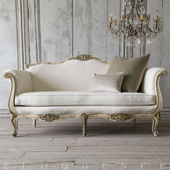 silln de madera tallada y dorada de estilo francs luis xv ms