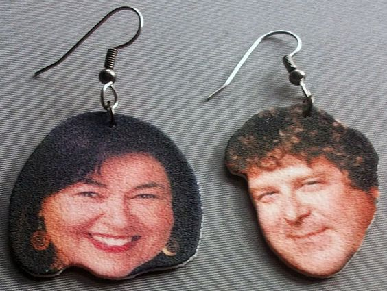 Roseanne and Dan Earrings by ShopNightOwlDesigns on Etsy, $7.00
