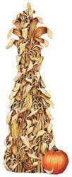 ShindigZ  $4.99   5 feet tall x 21 1/2 inches wide cornstalk with pumpkin, attach to wall