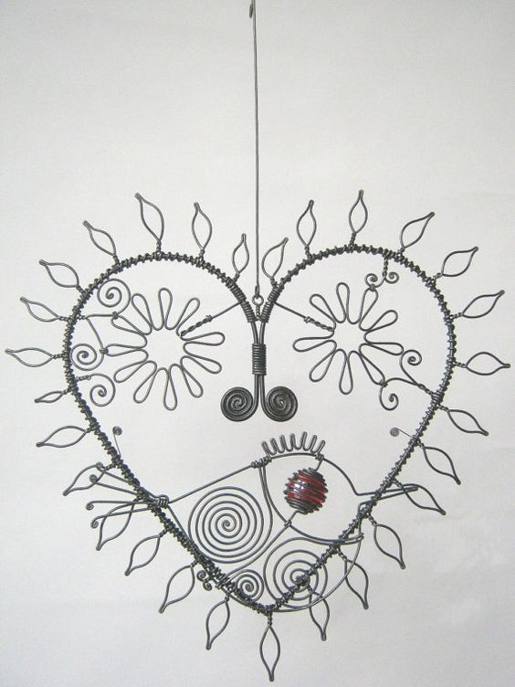 Leaves Sculpture Wire Sculptures Wire Art Wire Art Fish Mobile Etsy