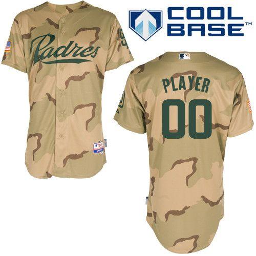Padres Customized Authentic Desert Camouflage Cool Base Mlb Jersey S 3xl Custom Jerseys Jersey Cheap Custom