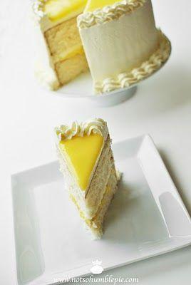 Not So Humble Pie: Lemon Mascarpone Cream Cake