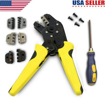 Professional Crimping Tool Wire Crimper Plier Wire Terminal Ratcheting Connector