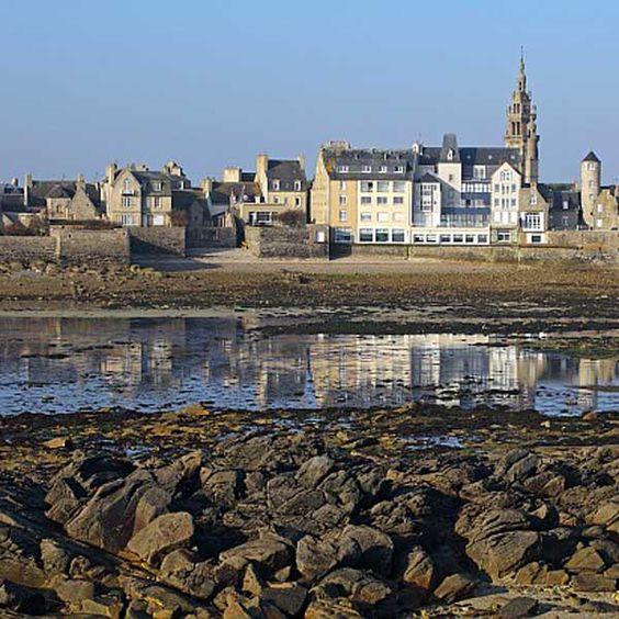 Roscoff vue depuis l'estran   Finistère   Bretagne   #myfinistere
