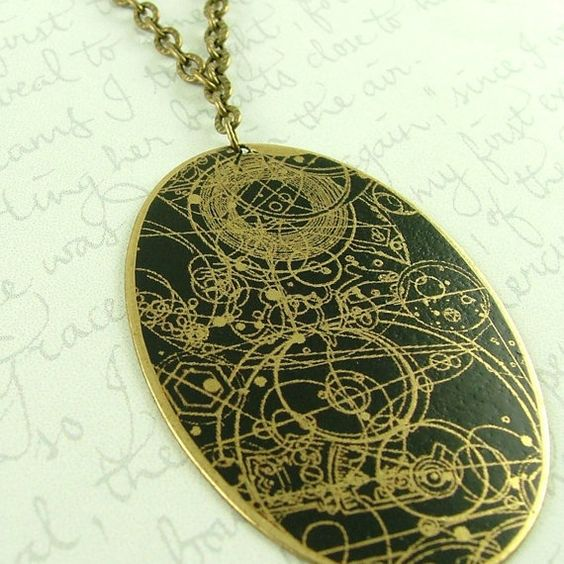 And this!! Gallifreyan necklace :)
