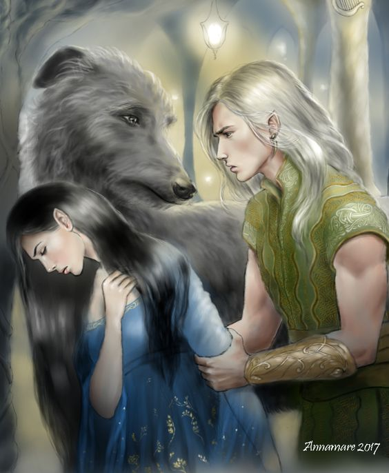 Lúthien, Celegorm and Huan
