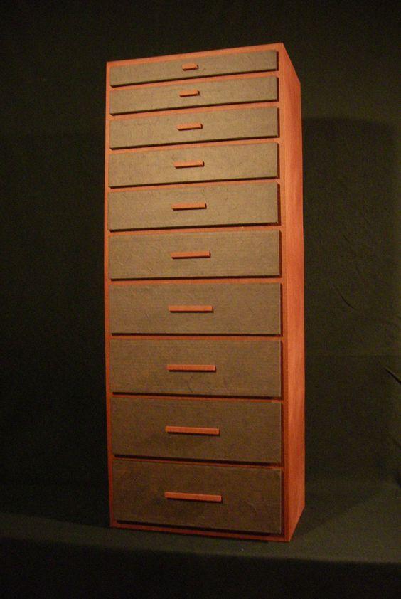 Rangement bureau en carton for Meuble bureau 15 tiroirs