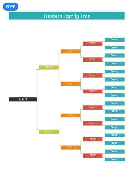 Free Modern Family Tree Stamboom