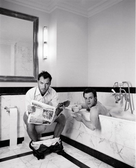 Ewan McGregor and Jude Law by Lorenzo Agius
