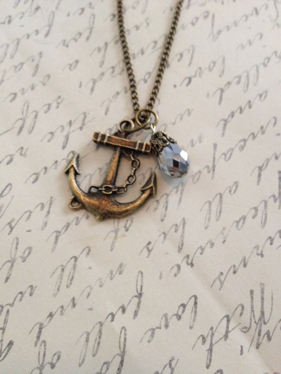 Anchors away charm necklace by RedLanternDesigns on Etsy