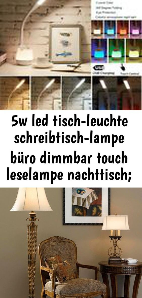 5w Led Tisch Leuchte Schreibtisch Lampe Buro Dimmbar Touch Leselampe Nachttisch Eek A Beleuchtung Led Table Lamp Reading Lamp Lamp