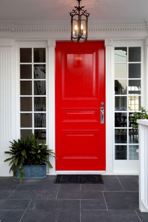 Red Door House Painted Front Doors