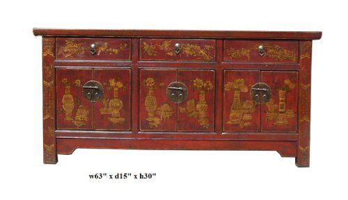 Chinese Fujian Style Red Golden Graphic Low Tv Stand Table Avs662 by Table & Dining Set, http://www.amazon.com/dp/B004TCUDSE/ref=cm_sw_r_pi_dp_oYmksb1JT5GG0