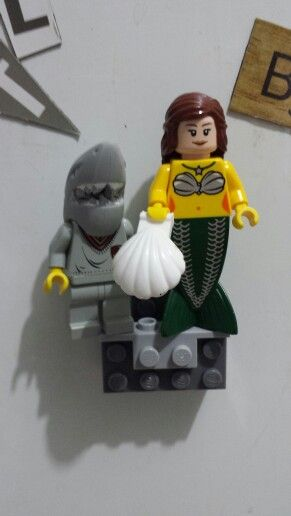Lego Shark Toys For Boys : Lego shark boy and mermaid hermione stuff on my fridge