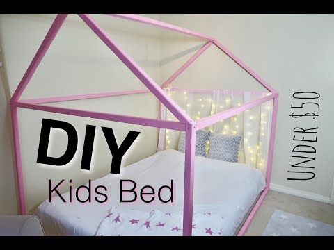 Diy Kids Bed Frame Pink Toddler Do It Yourself Craft Furniture