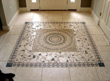 glass mosaic tile art mosaic floor tile floor installation 05