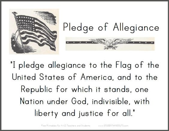 pledge of allegiance printable sign for classrooms brownies pinterest loyalty i pledge. Black Bedroom Furniture Sets. Home Design Ideas
