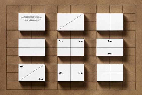 Lundgren+Lindqvist: Em.Ma. Arkitektur Visual identity, stationery and website for Emma Magnusson Arkitektur by Lundgren+Lindqvist. More images → https://goo.gl/tQ9PGs  #design #branding #website