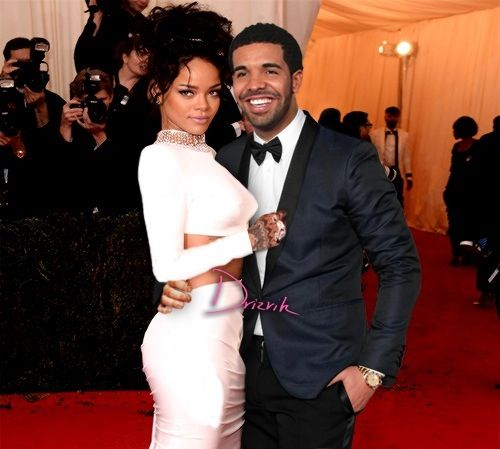 Riri & Drake @ MetGala 2014 Red Carpet