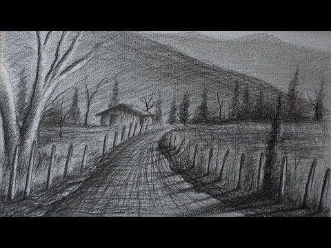 Como Dibujar Un Paisaje Rural A Lapiz Facil Paso A Paso Youtube Paisajes Dibujos Paisaje Rural Paisajes Naturales Dibujo