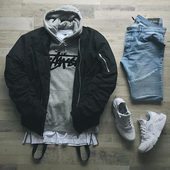 Outfit grid - Hoodie & jeans day