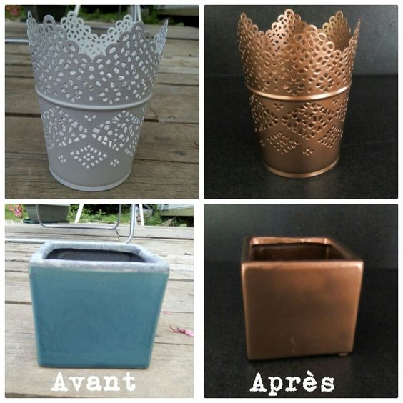 pots and bricolage on