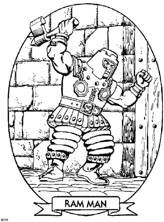 Architecture Adult Coloring Pages: He-Man And The Masters Of The
