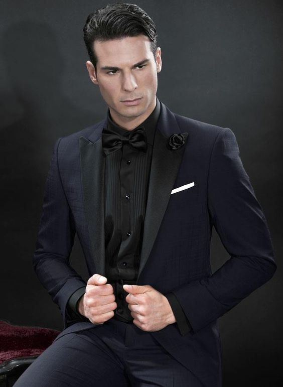 All-black menswear. | Men in Black - Suits & Ties | Pinterest