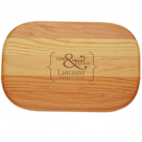 THE WELL APPOINTED HOUSE - Luxury Home Decor- Personalized Mr. & Mrs. Cutting Board-Available in Three Different Sizes Fun kitchen decor from www.wellappointedhouse.com #cooking #cuttingboard