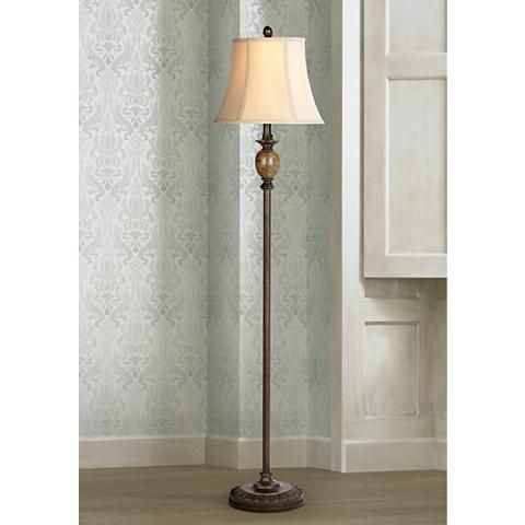 Corrie Club Bronze Floor Lamp With 9w Led Bulb 46p07 Lamps Plus Bronze Floor Lamp Floor Lamp Traditional Floor Lamps