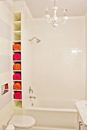 Convenient & stylish way of storing your towels!
