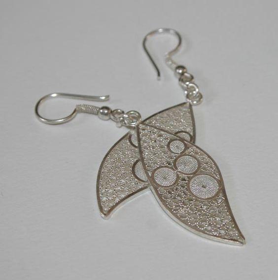 Hojas Filigrana. Plata, Beatriz Zuñiga diseñadora de joyas.