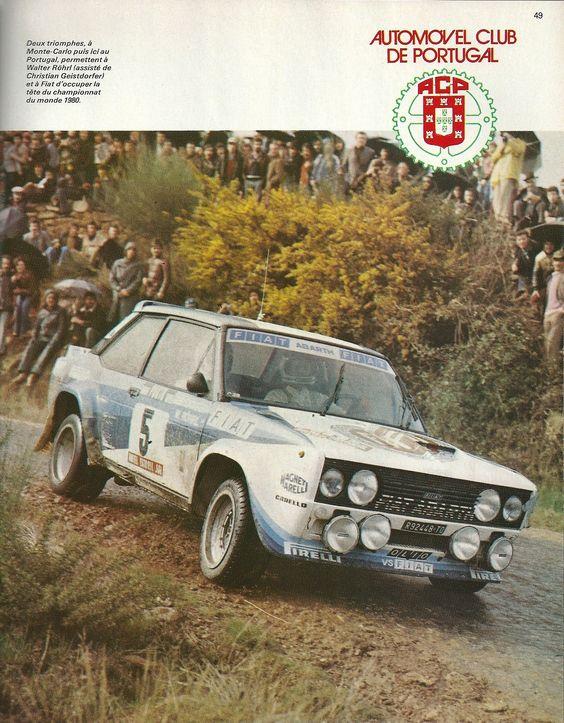 Fiat 131 Abarth Rallye du Portugal 1980 W.Röhrl-C.Geistdorfer  Sport-Auto Avril 1980
