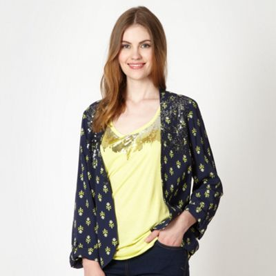 Butterfly by Matthew Williamson Designer navy tiled embellished jacket- at Debenhams.com
