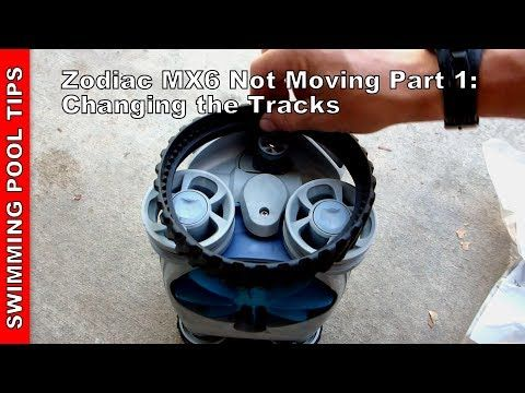 Zodiac Mx6 Not Moving Part 1 Changing The Track Tires R0526100 Youtube Automatic Pool Cleaner Zodiac Mx8 Pool Cleaning