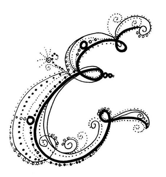 Fancy alphabet calligraphy s pinterest my