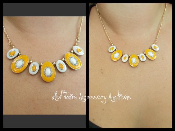 Creamsicle Mini Statement Necklace Go to:  facebook.com/hotflairs  etsy.com/hotflairs
