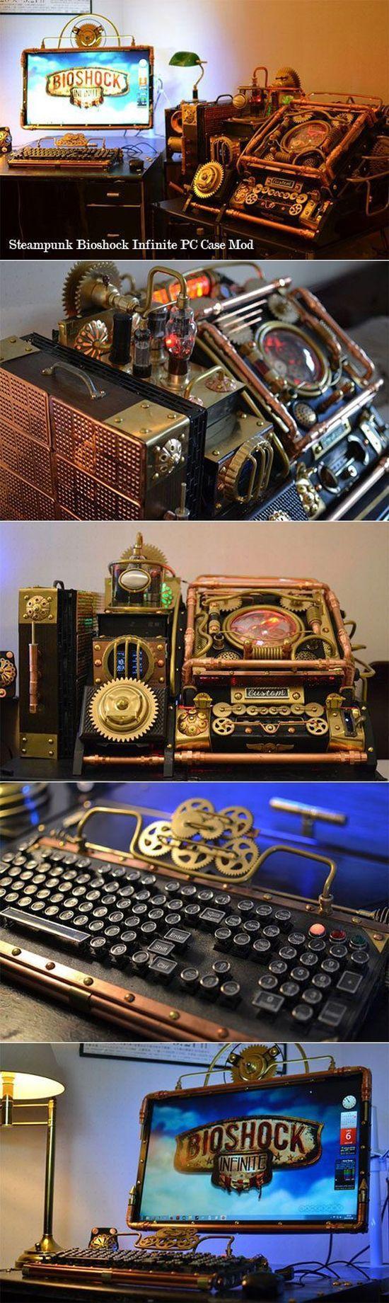 steampunk bioshock mod pc case