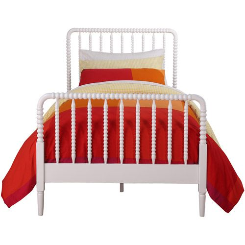 Jenny lind twin bed white a well metal frames and my for Little girl twin bed frame