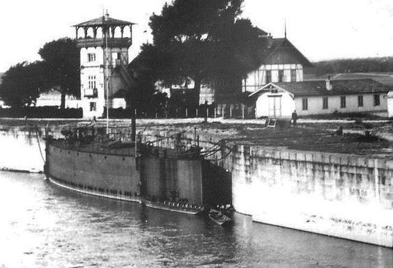 Sperrschiff Nussdorfer Spitz, Donauregulierung, Wien, 1912