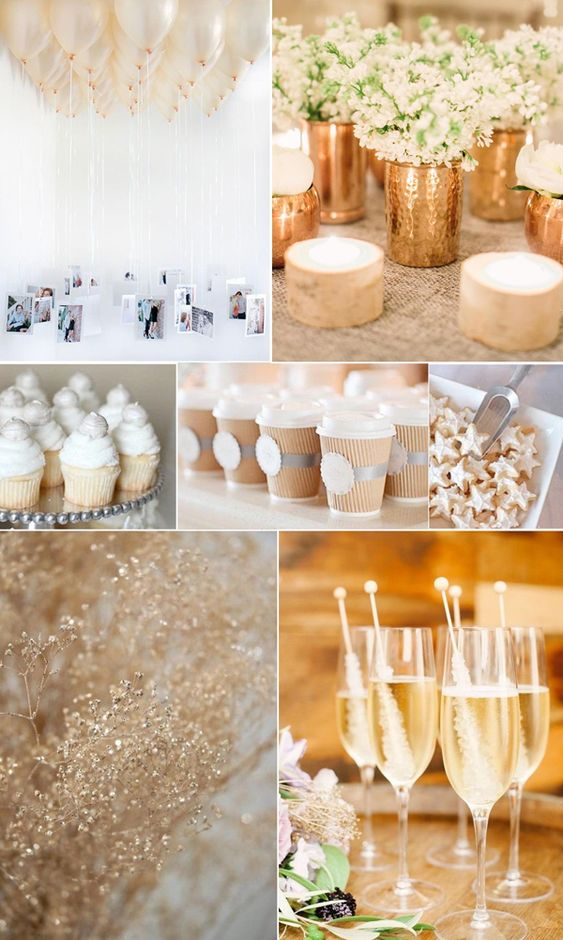 Gold and Ivory bridal shower