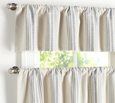 Kitchen And Or Dining Room French Stripe Cafe Curtain 50 Wide 35 Interiors Pinterest