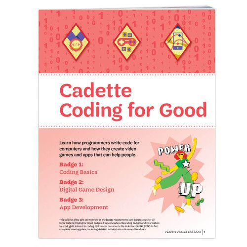 Cadette Coding For Good Badge Requirements Cadette Girl Scout Badges Girl Scout Badges Girl Scouts Cadettes