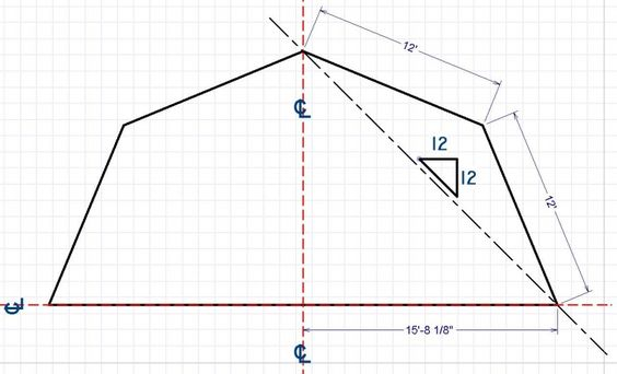 Gambrel gambrel roof and math on pinterest for Shed construction cost estimator
