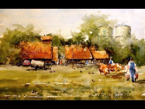 Countryscape Umberto Rossini Youtube Watercolor Video