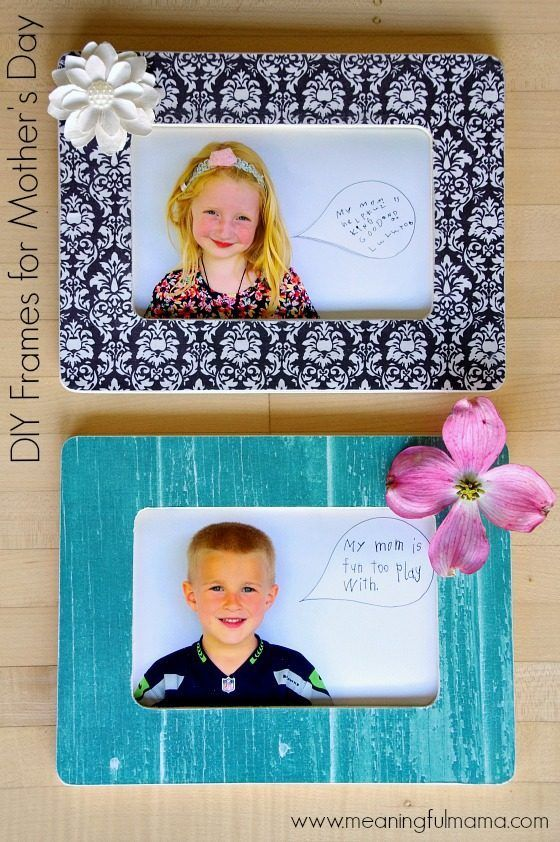 Diy Mother S Day Frames For Kindergarten Classroom Project With